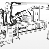 Strichumsetzung Maschine
