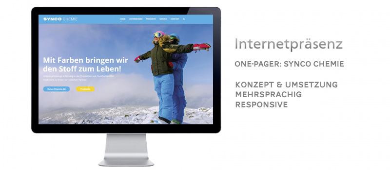 Webpräsenz für ein Chemie Unternehmen
